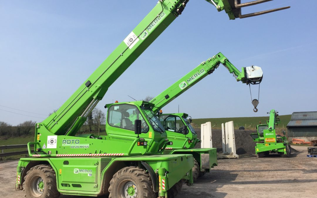 A77 Telescopic handler 360 slew (March 2019) short course