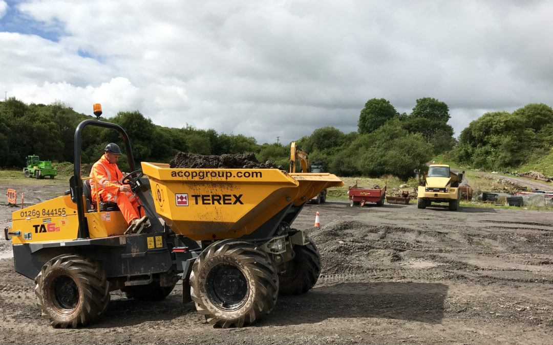 Forward tipping dumper training (August 2019)