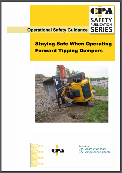 CPA publication on forward tipping dumpers