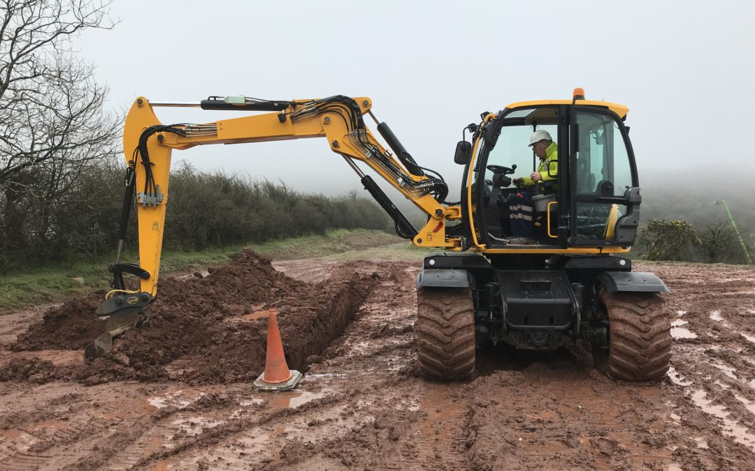 CPCS wheeled excavator training and testing.