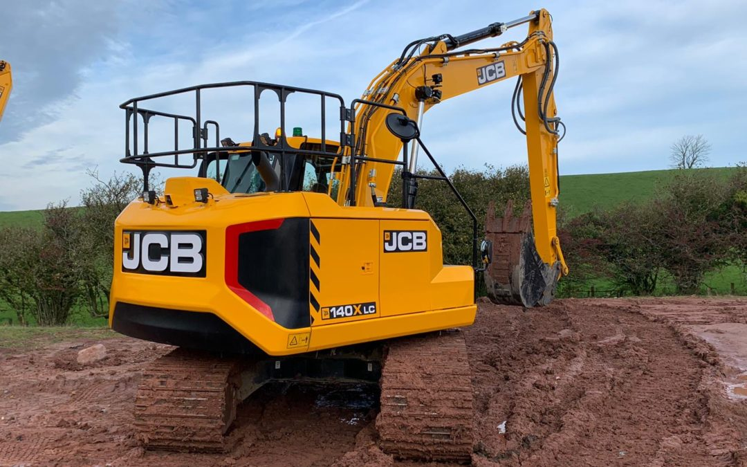 JCB140X: Trialling new plant machinery for training